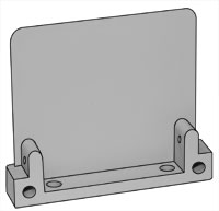 Image of Econofrost 9000 Series mounting bracket ear