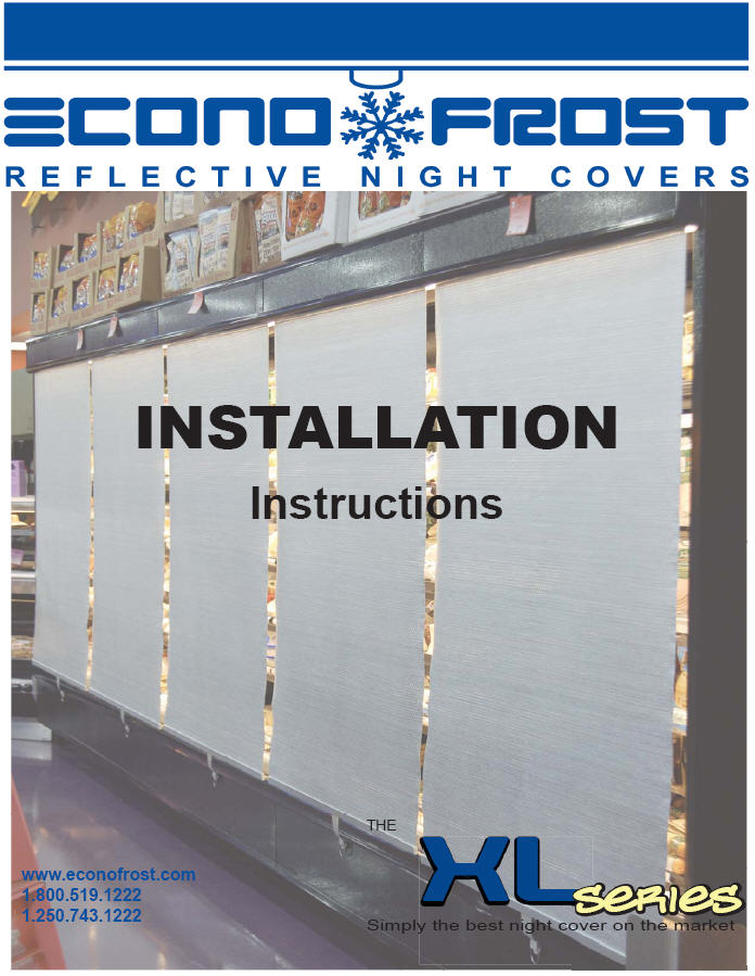 XL series night cover installation instructions