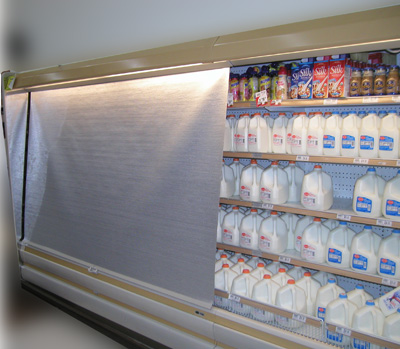 Image of dairy case night cover application