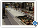 Frozen Food Coffin Case Open and Cclosed