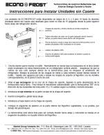 5000 Instrucciones de instalacion sin casete