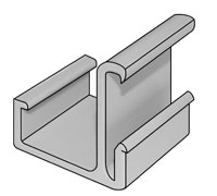 Image of Econofrost 9000 Series horizontal hook for freezer cases