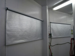 Image of meat prep room night curtain application