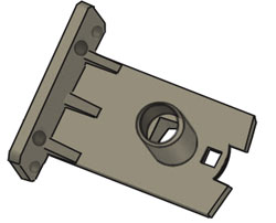 Image of Econofrost 9000 Series non-cassette mounting bracket